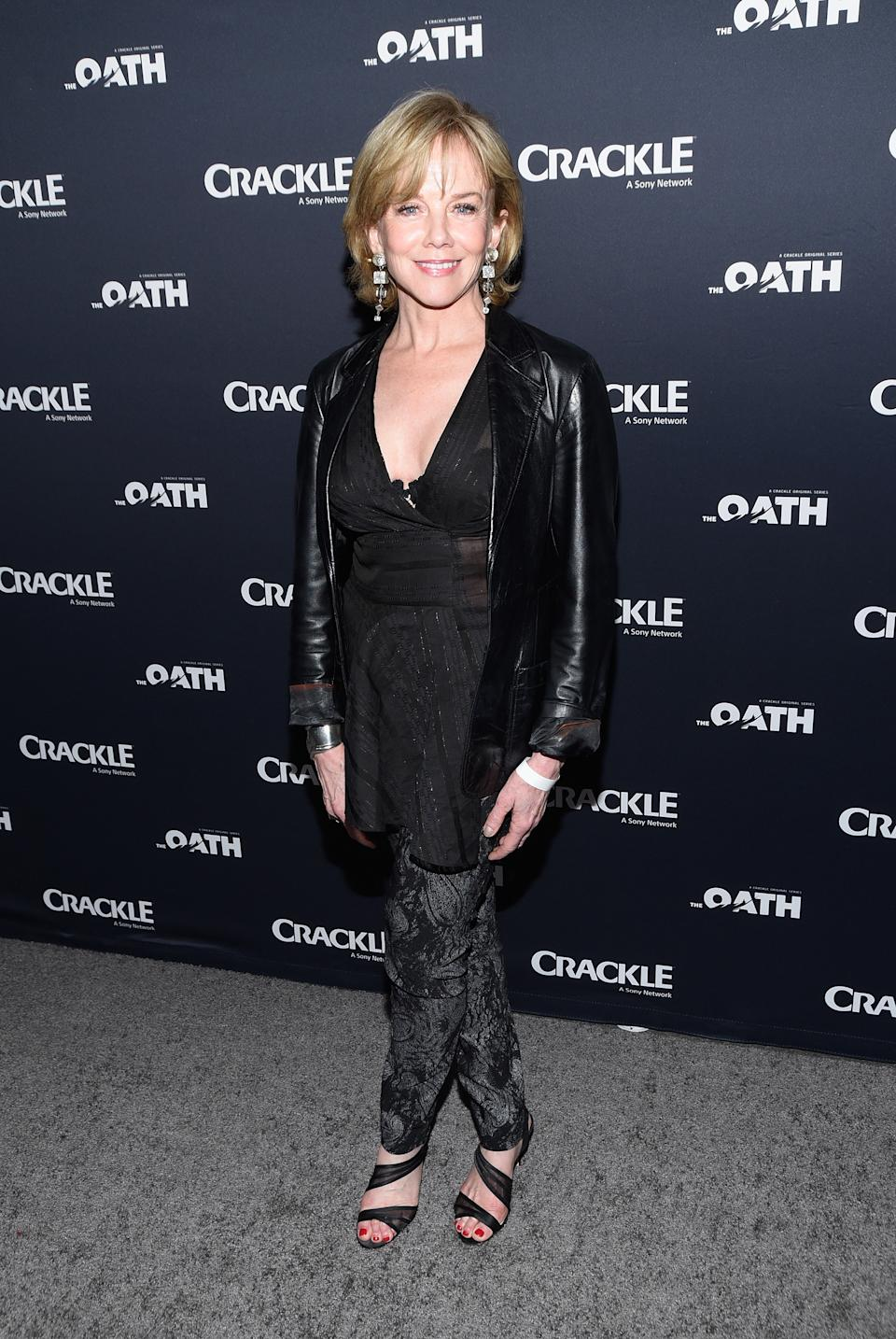 "Linda Purl attends the premiere of Crackle's ""The Oath"" at Sony Pictures Studios on March 7, 2018 in Culver City, California.  (Photo by Michael Tullberg/Getty Images)"