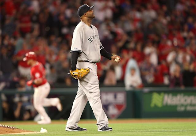 CC Sabathia is three strikeouts away from 3,000 in his career. (Getty Images)