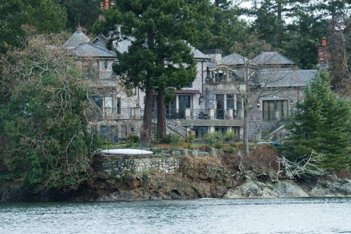Harry and Meghan have retreated to a luxury mansion on Vancouver Island (AFP Photo/Mark GOODNOW)
