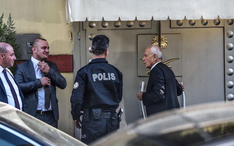 Turkish police are expected to enter the consulate for the first time since October 2 - AFP