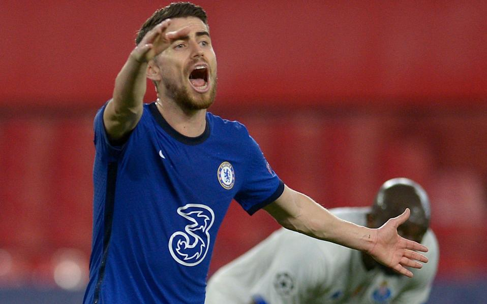 Commanding Jorginho takes stands tall as Chelsea move three games away from European glory - AFP
