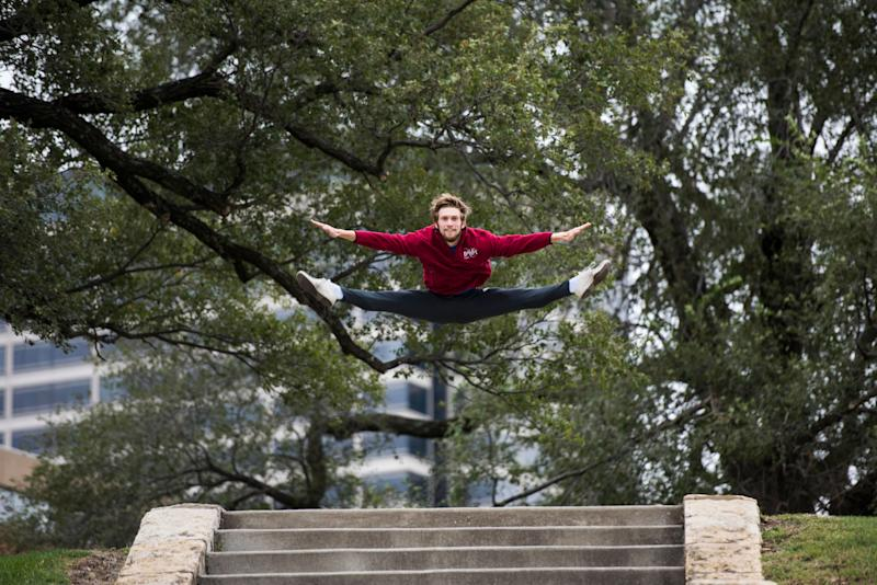 Dancer Gavin Abercrombie dances in Kansas City.