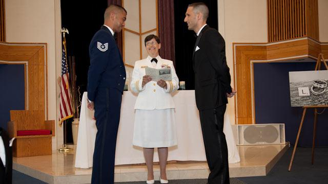 First Military Base Same-Sex Wedding Held