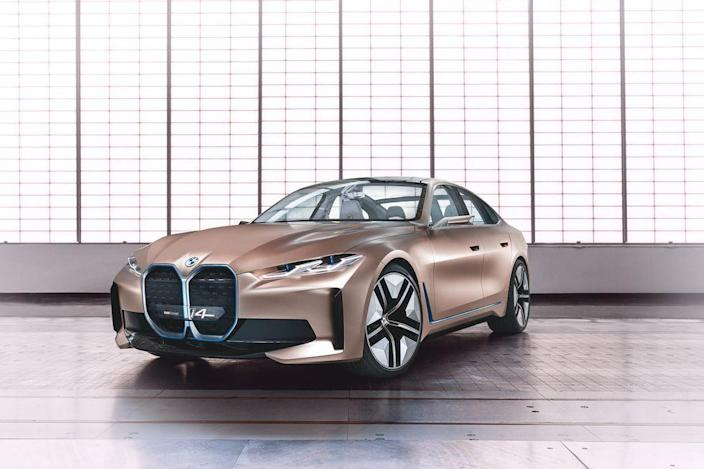 BMW has promised an onslaught of two dozen electric vehicles in the next few years, and this svelte sedan will lead the charge when it goes on sale in early 2021. We dig the estimated 270-plus miles of range, the lithe exterior shape, and especially the rose-gold-and-fabric-trimmed interior. Another Tesla fighter?