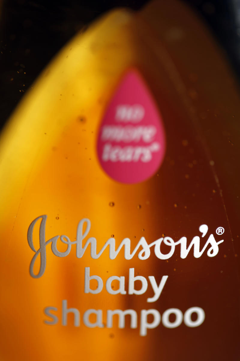 FILE - An April 19, 2010 file photo shows a bottle of Johnson & Johnson's baby shampoo in Philadelphia. Johnson & Johnson said Tuesday Aug. 14, 2012 that it remains on track to have baby products, including its Johnson's No More Tears baby shampoo, reformulated with safer ingredients by the end of 2013.  (AP Photo/Matt Rourke, File)