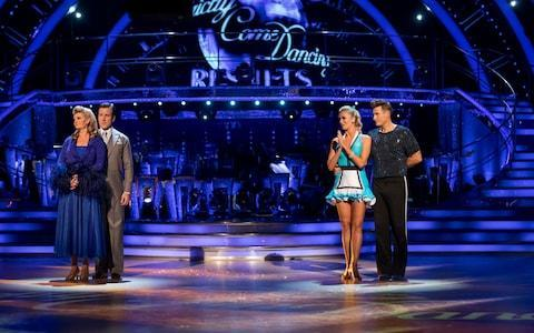 Susannah and Lee await the dance-off results