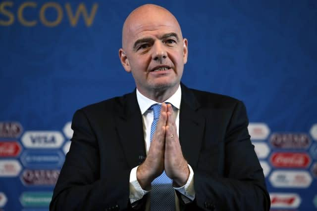 Gianni Infantino agrees in principle with the idea of concussion substitutes (Nick Potts/PA)