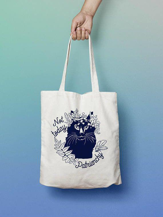 """Get it <a href=""""https://www.etsy.com/listing/524131224/feminist-tote-bag-not-today-patriarchy"""" target=""""_blank"""">here</a>."""