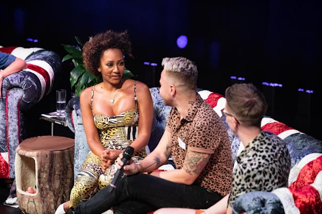 """Mel B durante lo show """"Brutally Honest & Fabulous Show"""" a Leeds, in Inghilterra. (Photo by Andrew Benge/Getty Images)"""
