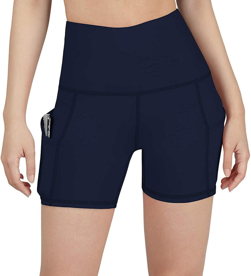 <p>Summer temperatures call for these <span>Ododos High Waist Out Pocket Yoga Shorts</span> ($22, originally $44).</p>