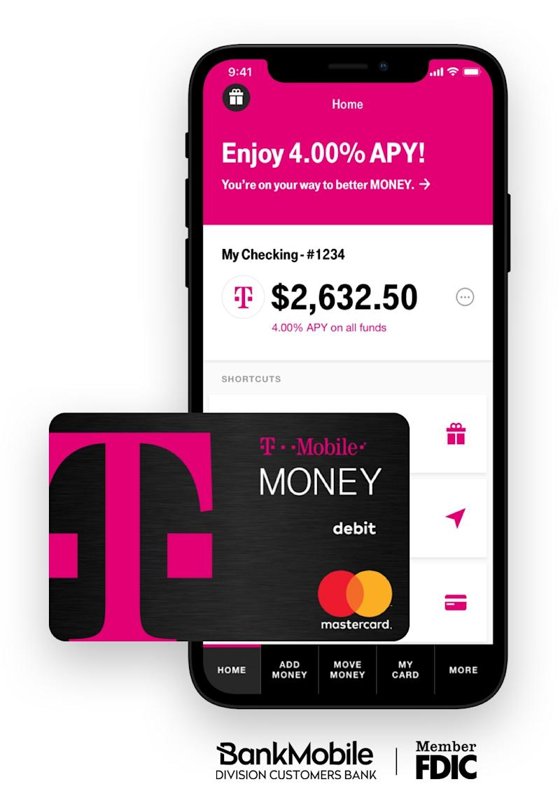 Bye, Big Banks. Hello, T-Mobile MONEY Introducing Your No-Fee, Interest-Earning, Mobile-First Checking Account