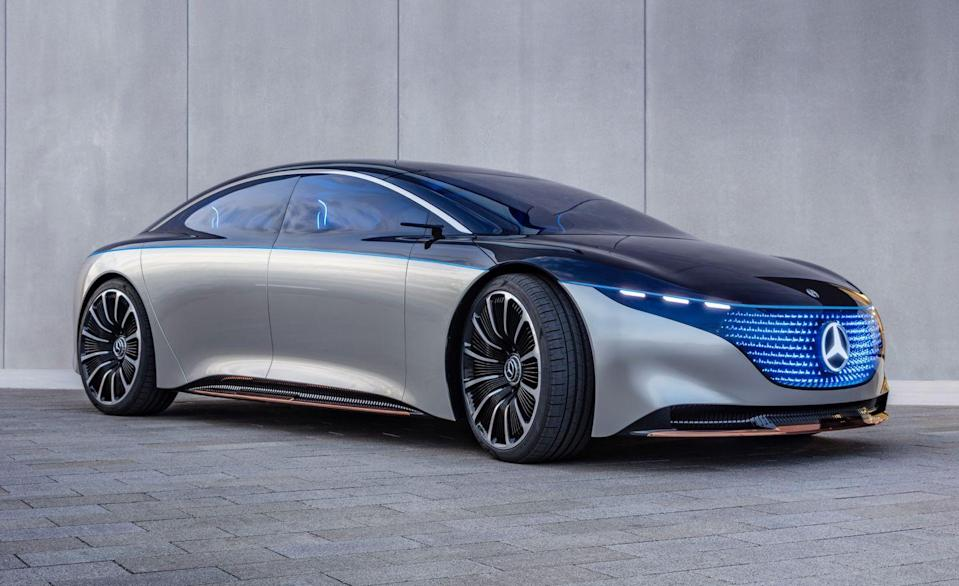 """<p><strong>Mercedes</strong> plans to introduce 10 new EVs through its EQ brand by the end of the year, including<a href=""""https://www.caranddriver.com/mercedes-benz/eqs"""" rel=""""nofollow noopener"""" target=""""_blank"""" data-ylk=""""slk:the 2022 EQS"""" class=""""link rapid-noclick-resp""""> the 2022 EQS</a> (pictured).</p><p><strong>Ford</strong> intends to start production of <a href=""""https://www.caranddriver.com/news/a36433090/2022-ford-f-150-lightning-specs-revealed/"""" rel=""""nofollow noopener"""" target=""""_blank"""" data-ylk=""""slk:the F-150 Lightning"""" class=""""link rapid-noclick-resp"""">the F-150 Lightning</a>, an electric version of America's bestselling vehicle, by the spring of 2022.</p><p><a class=""""link rapid-noclick-resp"""" href=""""https://www.caranddriver.com/news/g29994375/future-electric-cars-trucks/"""" rel=""""nofollow noopener"""" target=""""_blank"""" data-ylk=""""slk:All EVs Coming by 2025"""">All EVs Coming by 2025</a></p>"""