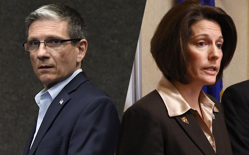 Joe Heck, Catherine Cortez Masto (Photos: David Becker/AP; Cathleen Allison/Nevada Appeal/AP)
