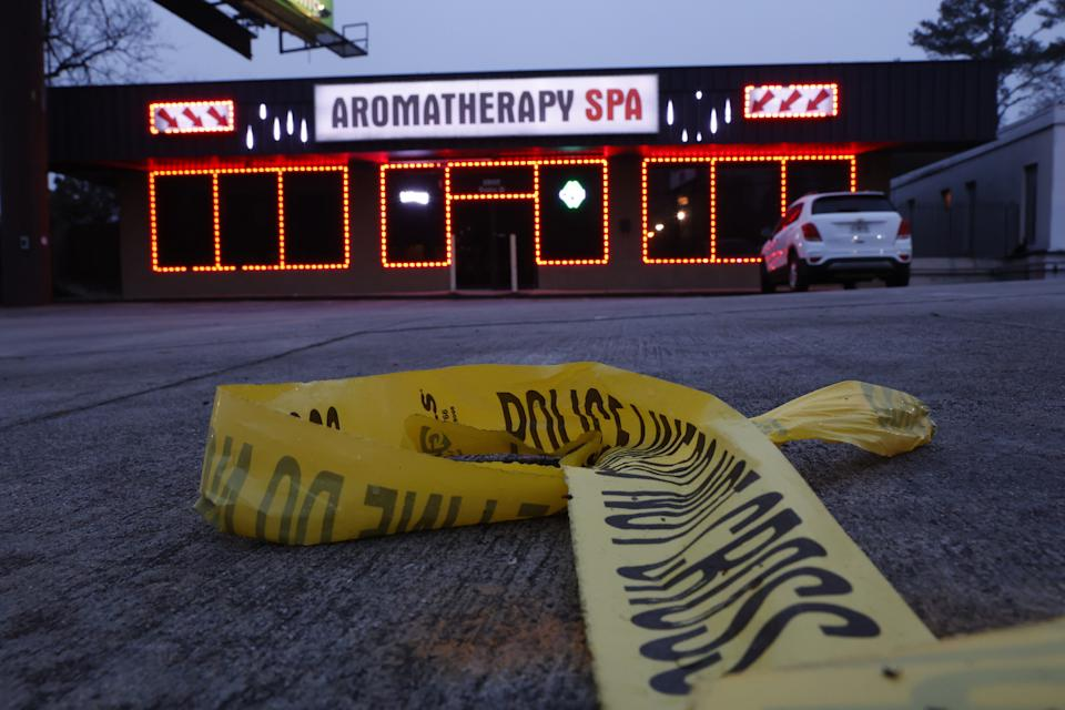 Aramotherapy Spa, one of three Atlanta locations where deadly shootings took place last week. (Chris Aluka Berry for The Washington Post via Getty Images)