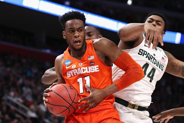 Syracuse beat Michigan State despite conceding 29 offensive rebounds and making only one 3-pointer. (Getty)