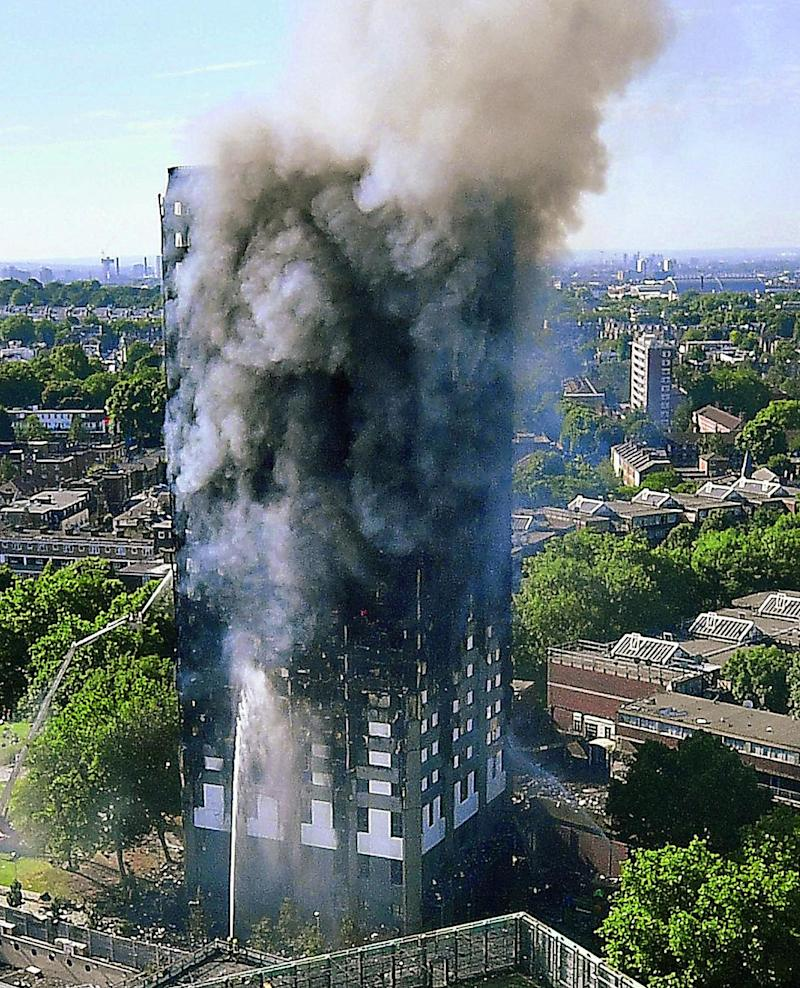 Grenfell: Some are waiting to be rehoused elsewhere because they says it is too traumatic to live under the burnt remains of the tower block (Getty Images)
