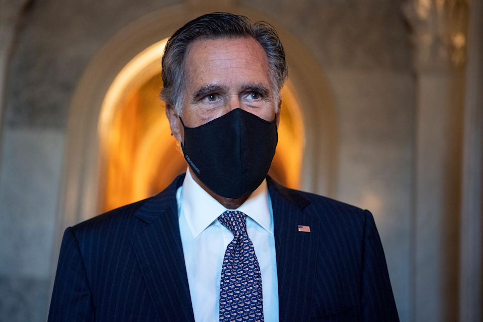"""When it comes to voting rights, Sen. Mitt Romney (R-Utah) parroted the often-used Republican phrase, """"Make it easier to vote but harder to cheat."""" (Photo: Tom Williams via Getty Images)"""