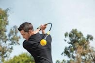 """<p><strong>SKLZ</strong></p><p>amazon.com</p><p><strong>$79.95</strong></p><p><a href=""""https://www.amazon.com/dp/B0053C3WDC?tag=syn-yahoo-20&ascsubtag=%5Bartid%7C10055.g.20685099%5Bsrc%7Cyahoo-us"""" rel=""""nofollow noopener"""" target=""""_blank"""" data-ylk=""""slk:Shop Now"""" class=""""link rapid-noclick-resp"""">Shop Now</a></p><p>Over 3,000 Amazon reviewers are raving about this golf swing trainer — one user best describes it as """"a magnificent device for timing, tempo and warmup."""" Dad can use it when when warming up before a game to build muscle and power with every swing.</p><p><strong>RELATED:</strong> <a href=""""https://www.goodhousekeeping.com/holidays/gift-ideas/g21086207/sports-gifts/"""" rel=""""nofollow noopener"""" target=""""_blank"""" data-ylk=""""slk:21 Best Sports Gift Ideas to Give Dad"""" class=""""link rapid-noclick-resp"""">21 Best Sports Gift Ideas to Give Dad</a></p>"""