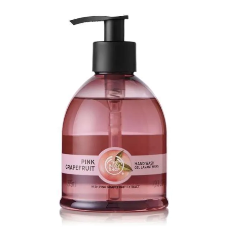 Pink Grapefruit Hand Wash. Image via The Body Shop.