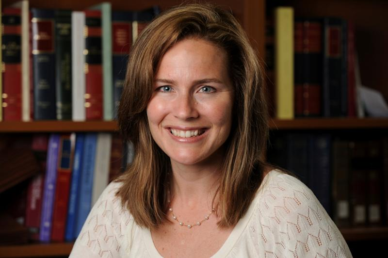 Amy Coney Barrett criticised Obama for trying to dramatically flip the balance of power ((Via Reuters))
