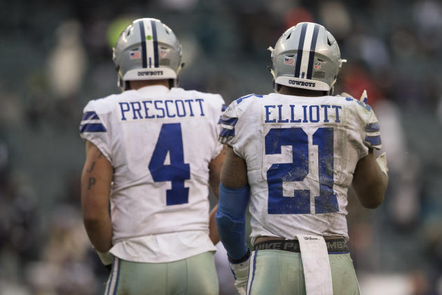 The pressure is on for QB Dak Prescott and RB Ezekiel Elliott to revive the excitement they showed during their rookie campaigns. (Getty Images)