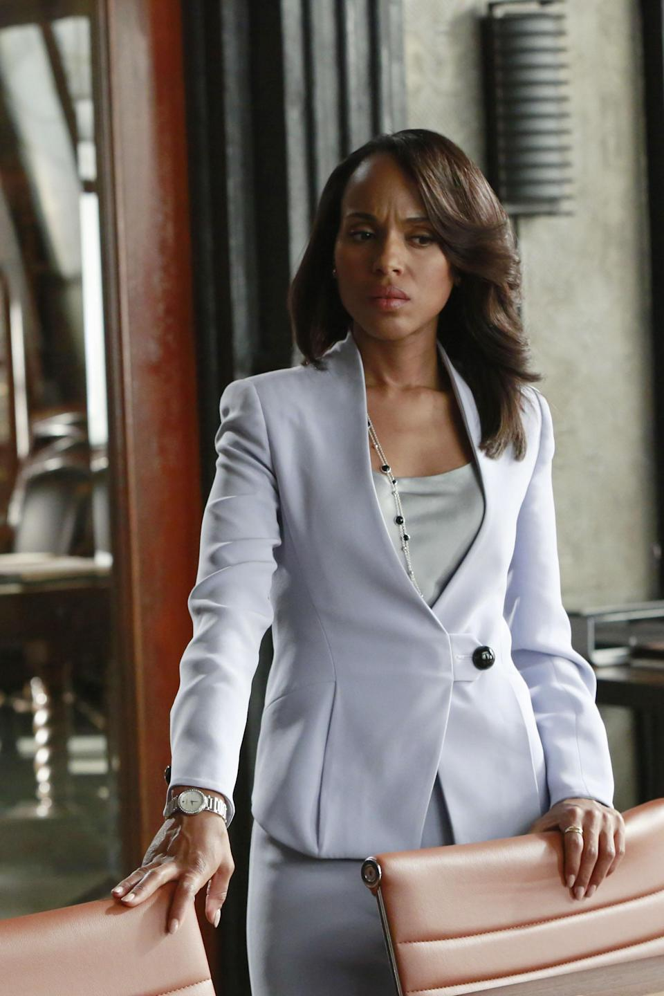 "<strong><h2>Olivia Pope</h2></strong><em>Scandal</em> came to an end after seven seasons in 2018. And while some people are probably grateful that they no longer have to worry about the crazy antics of politicians in Shonda Rhimes' fictional D.C., there is no denying that Olivia Pope is a national treasure. And her style is iconic.<br><br>Here's what you'll need to recreate her look, in addition to a knock-off Prada bag. This <u><a href=""http://www.glamourtress.com/Model-Model-Deep-Invisible-L-Part-Lace-Front-Dream-p/mm-diplfw-dream.htm?1=1&CartID=1"" rel=""nofollow noopener"" target=""_blank"" data-ylk=""slk:bouncy wig"" class=""link rapid-noclick-resp"">bouncy wig</a></u> will capture Pope's signature blow out. Some <u><a href=""https://www.missguidedus.com/zip-front-crepe-wide-leg-pants?istCompanyId=6f000e44-d468-46b6-b05b-e9e08130e2eb&istItemId=pawqrxpwi&istBid=tzaw&gclid=EAIaIQobChMI26y5ysXU1gIVCmSGCh1wkQNGEAQYBSABEgICNfD_BwE"" rel=""nofollow noopener"" target=""_blank"" data-ylk=""slk:wide leg trousers"" class=""link rapid-noclick-resp"">wide leg trousers</a></u>, a power blouse of your choice, and a white suit jacket will get you ready to handle Halloween. Yes, you'll need some pumps.<span class=""copyright"">Photo: Shondaland/ABC Studios USA Television.</span>"