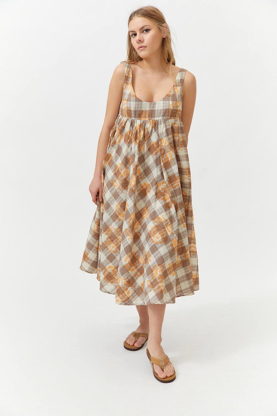"""<p><strong>Urban Outfitters</strong></p><p>urbanoutfitters.com</p><p><strong>$129.00</strong></p><p><a href=""""https://go.redirectingat.com?id=74968X1596630&url=https%3A%2F%2Fwww.urbanoutfitters.com%2Fshop%2Fuo-bianca-embroidered-babydoll-dress&sref=https%3A%2F%2Fwww.thepioneerwoman.com%2Ffashion-style%2Fg36269895%2Fcute-summer-dresses%2F"""" rel=""""nofollow noopener"""" target=""""_blank"""" data-ylk=""""slk:Shop Now"""" class=""""link rapid-noclick-resp"""">Shop Now</a></p><p>This babydoll silhouette is too cute! And the earthy plaid pattern is a nice alternative to some of the brighter summer colors out there. </p>"""