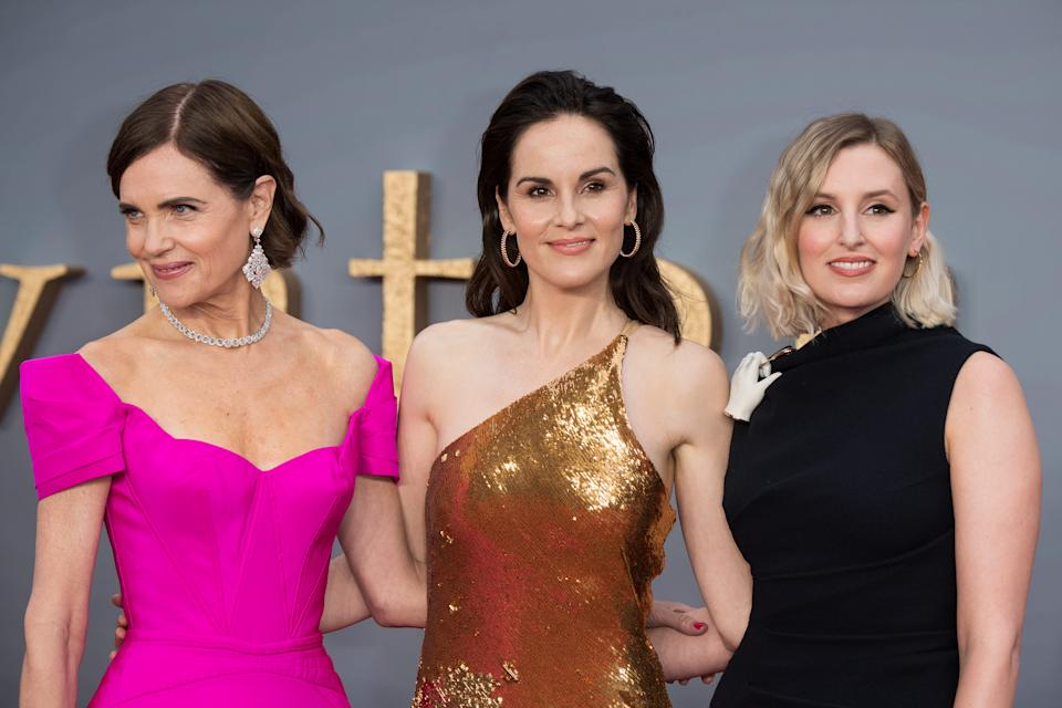 """Elizabeth McGovern, Michelle Dockery and Laura Carmichael attend the """"Downton Abbey"""" World Premiere at Cineworld Leicester Square on September 09, 2019 in London, England. [Photo: Getty]"""
