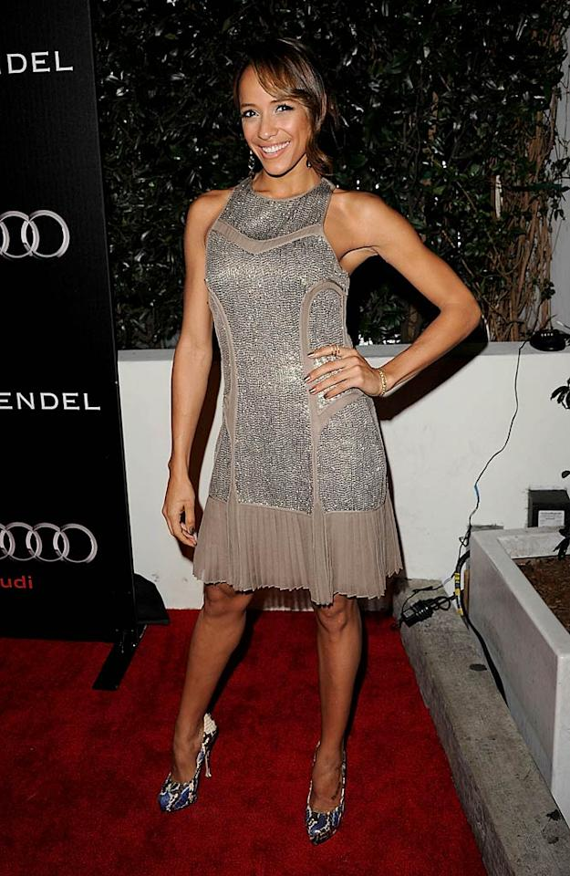 """Entourage"" cutie Dania Ramirez sported a pleated metallic gown that showed off her amazingly toned arms. Jason Merritt/<a href=""http://www.gettyimages.com/"" target=""new"">GettyImages.com</a> - January 9, 2011"
