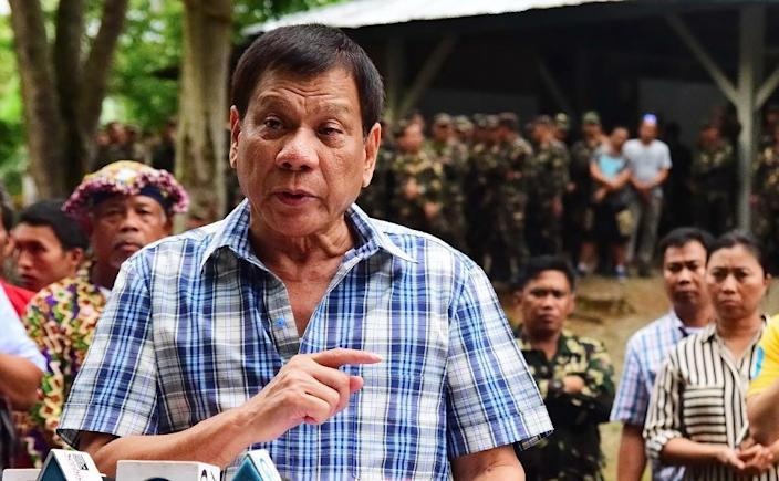 """""""I don't care about human rights, believe me,"""" Philippine President Rodrigo Duterte said, according to official transcripts (AFP Photo/Rene Lumawag)"""