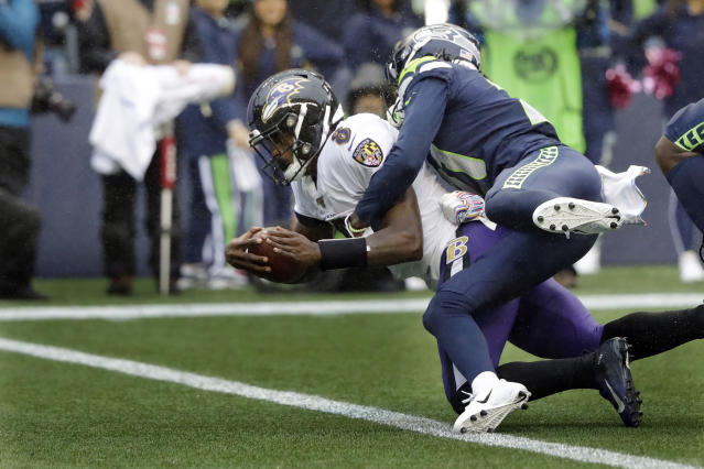 Lamar Jackson needed just seven words to alter course of Ravens-Seahawks game