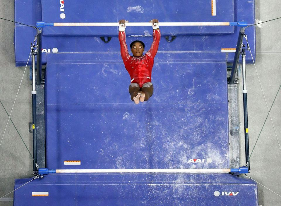 <p>Like its biggest star, Simone Biles, gymnastics is the GOAT. The showstopper. The primetime event. The sport where celebrities are made. Whether it's rhythmic gymnastics, the trampoline (!), or the one where the gymnasts swing around in circles on that big bar, this is the sport that genuinely sees the realization of human greatness.</p>