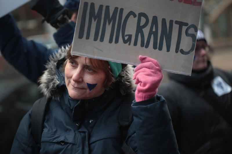 Demonstrators protest the deportation of immigrants on March 1, 2018, in Chicago. (Photo: Scott Olson/Getty Images)