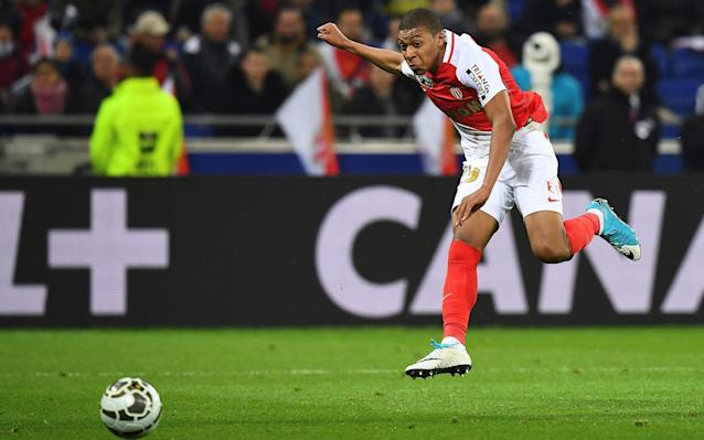 <span>18-year-old Monaco forward Kylian Mbappe has drawn comparisons with Thierry Henry</span> <span>Credit: FRANCK FIFE/AFP </span>