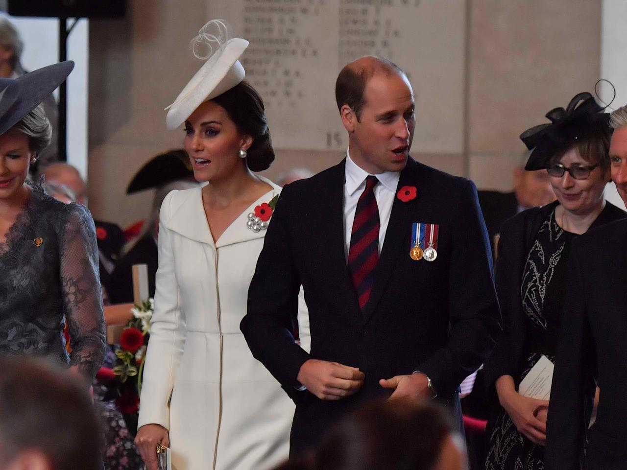 Kate Middleton and Prince William avoid particular food during royal tours. Pictured: Couple attends the Last Post ceremony at the Commonwealth War Graves Commission Ypres (Menin Gate) Memorial on July 30, 2017.