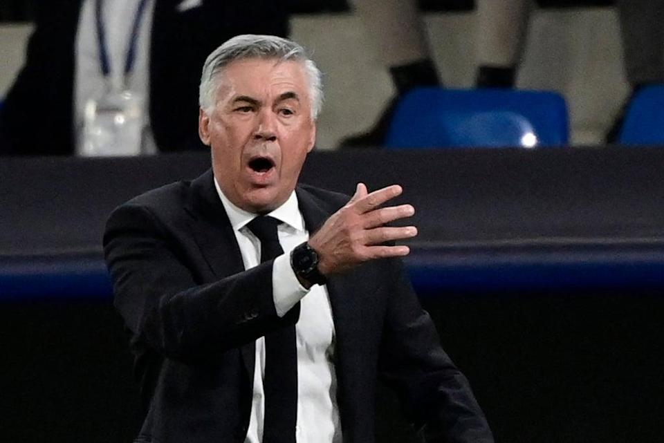 Carlo Ancelotti is worried after Real Madrid's historic loss to Sheriff Tiraspol in the Champions League  (AFP via Getty Images)