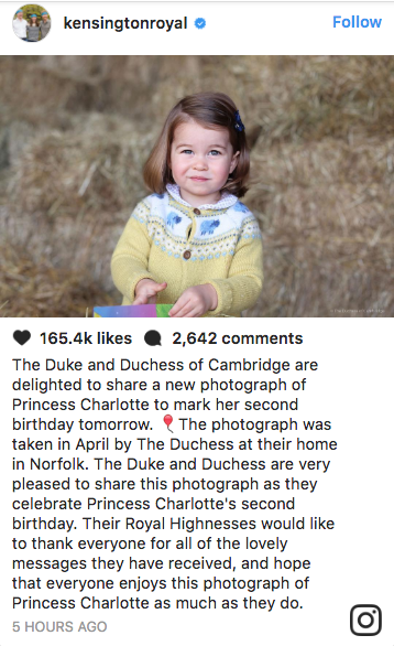 Princess Charlotte Looks All Grown Up in a New Photo Taken by Kate Middleton