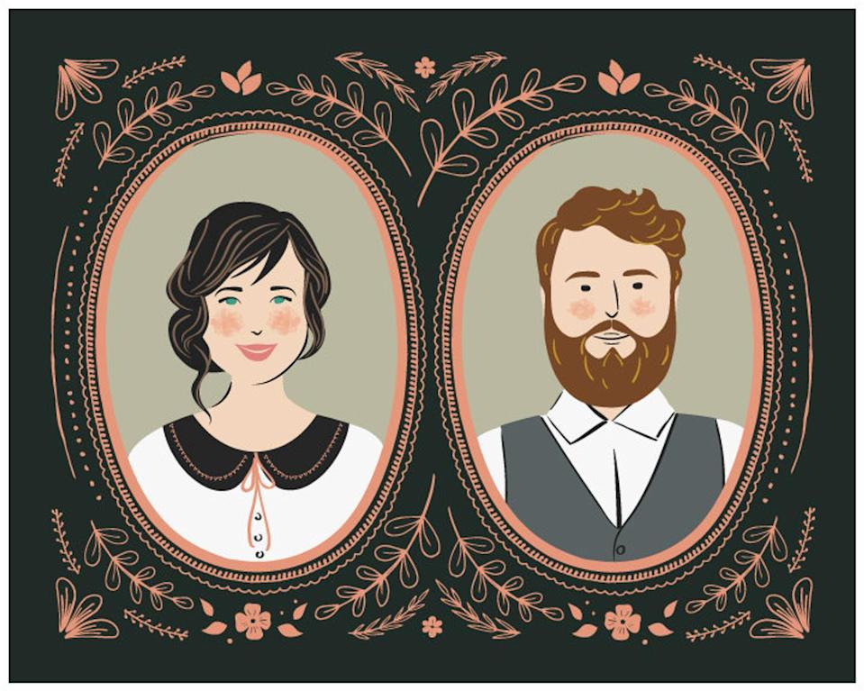 """<h2><a href=""""https://fave.co/31m4qI7"""" rel=""""nofollow noopener"""" target=""""_blank"""" data-ylk=""""slk:Custom Couples Portrait"""" class=""""link rapid-noclick-resp"""">Custom Couples Portrait</a></h2><br>Step your gifting game up a notch with a framed vintage style portrait of you and a loved one. <br><br><br><strong>LucyLovesPaper</strong> Custom Couple Portrait, $, available at <a href=""""https://go.skimresources.com/?id=30283X879131&url=https%3A%2F%2Ffave.co%2F31m4qI7"""" rel=""""nofollow noopener"""" target=""""_blank"""" data-ylk=""""slk:Etsy"""" class=""""link rapid-noclick-resp"""">Etsy</a>"""