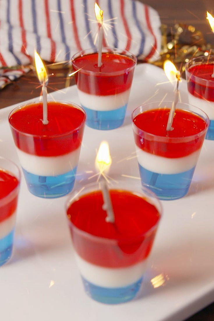 """<p>Who said jello is just for kids? There's no better way to keep the party going than with a tray of patriotic jello shots. </p><p><strong><em>Get the recipe at <a href=""""https://www.delish.com/cooking/recipe-ideas/recipes/a53998/rocket-jello-shots-recipe/"""" rel=""""nofollow noopener"""" target=""""_blank"""" data-ylk=""""slk:Delish"""" class=""""link rapid-noclick-resp"""">Delish</a>. </em></strong></p>"""