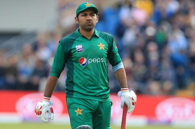 Captain Sarfraz Ahmed was run out for 97 in Pakistan's latest loss to England (AFP Photo/Lindsey PARNABY)