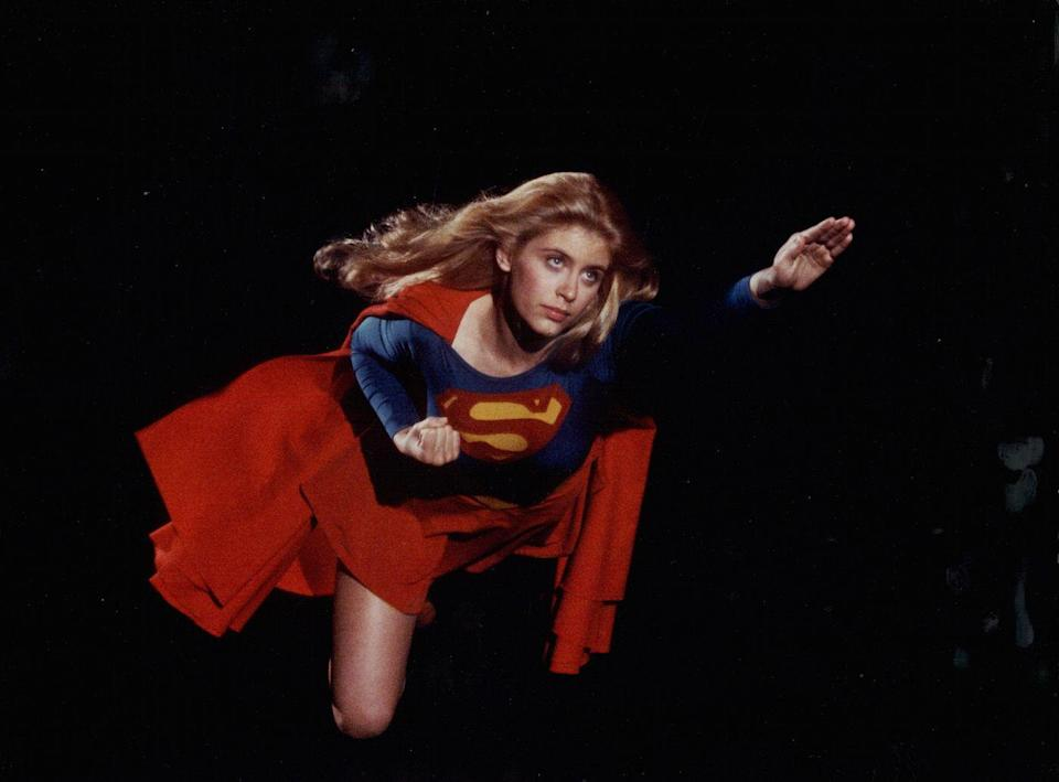 <p>Supergirl makes her first appearance in Action Comics #252, May 1959. She'd get her own movie in 1984, starring Helen Slater. </p>