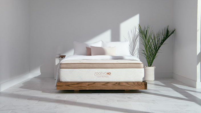 Saatva's hybrid mattress has a layer of foam that's designed for extra back support.