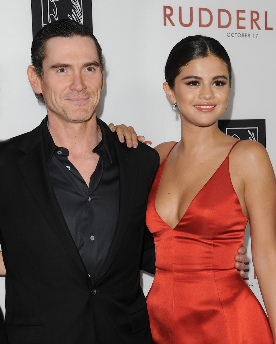 LOS ANGELES, CA - OCTOBER 07: Actors Billy Crudup and Selena Gomez arrive at the Los Angeles VIP Screening of 'Rudderless' at the Vista Theatre on October 7, 2014 in Los Angeles, California. (Photo by Axelle/Bauer-Griffin/FilmMagic)