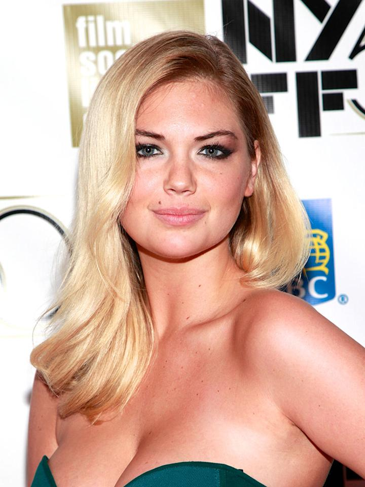"NEW YORK, NY - OCTOBER 12: Model Kate Upton attends the ""No"" Premiere During The 50th New York Film Festival at Alice Tully Hall on October 12, 2012 in New York City."