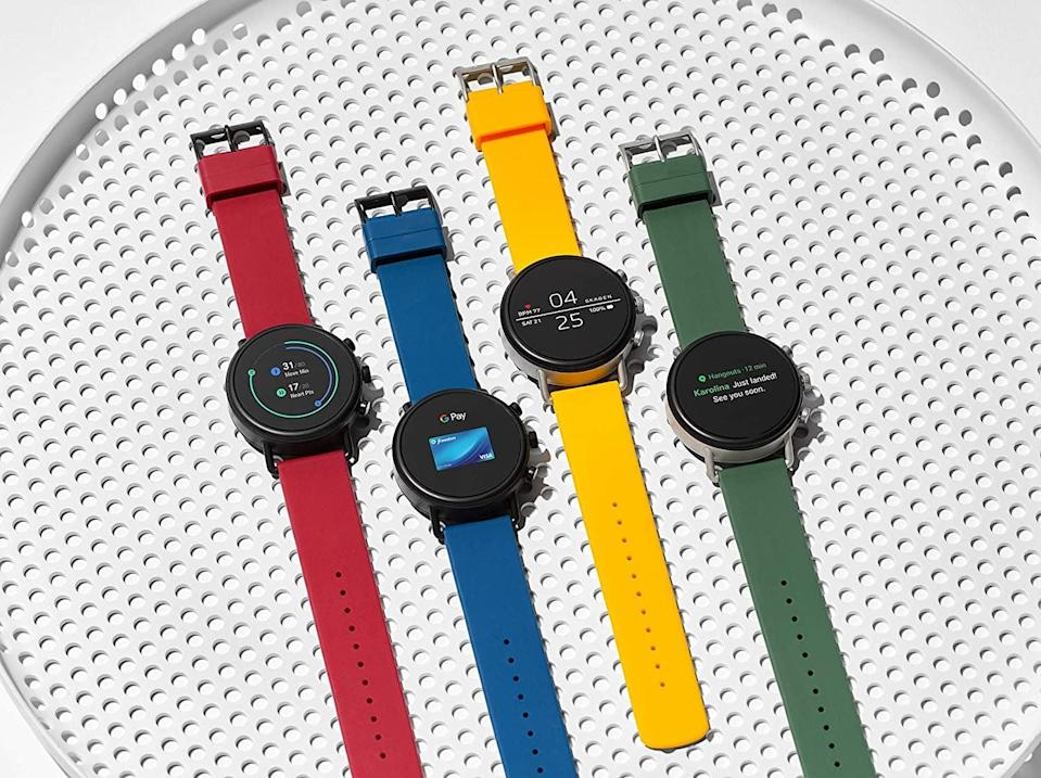 """<p><strong> The Tracker: </strong> <span>Skagen Falster 2 Touchscreen Strap Smart Watch</span> ($283)</p> <p><strong> The Rating: </strong> 3.9 stars </p> <p><strong> Why People Love It: </strong> It's so sleek, and we love that you can wear it everyday. It also comes with both Google Assistant and Google Play, in addition to activity and heart rate trackers. """"The watch is sexy, there is no denying that, many people have complimented the design of it. Honestly, I would highly recommend this watch to anyone looking for a simple SmartWatch with Fitness features. I've had several smart watches in the past and this is by far my favorite.""""</p>"""