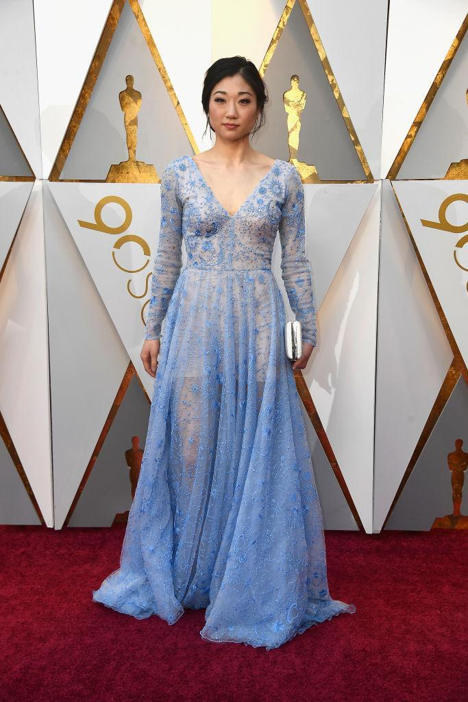 <p>Mirai Nagasu attends the 90th Academy Awards in Hollywood, Calif., March 4, 2018. (Photo: Getty Images) </p>