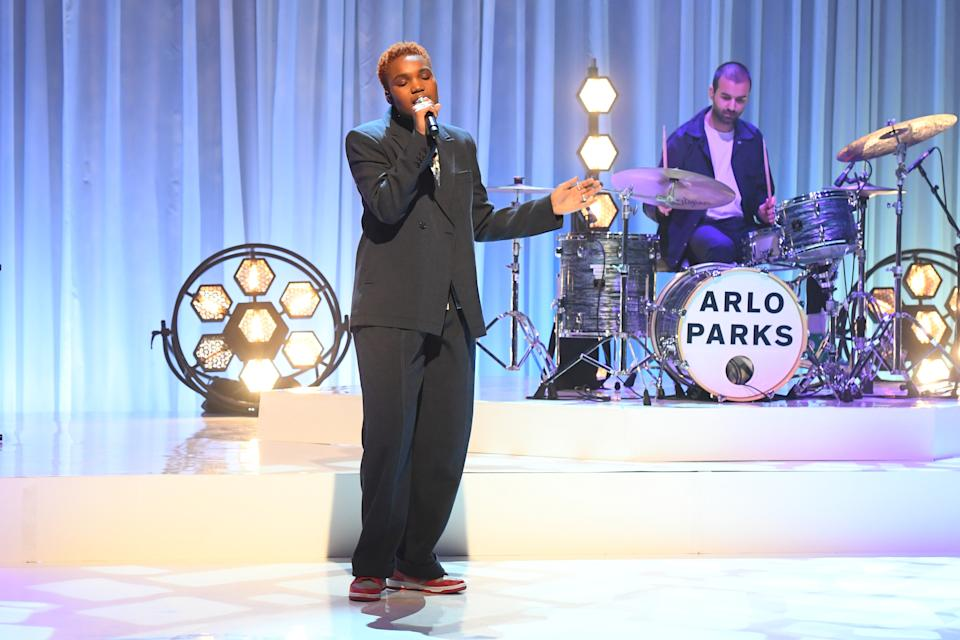 Arlo Parks is nominated in the Breakthrough Artist categroy. (PA Media on behalf of So TV/PA Wire)