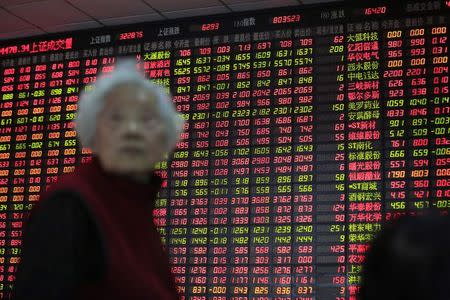 Asian stocks fell in morning trade on Monday