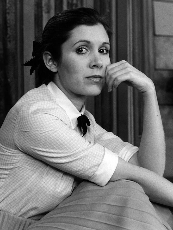 Carrie Fisher struck a pose in 1977.
