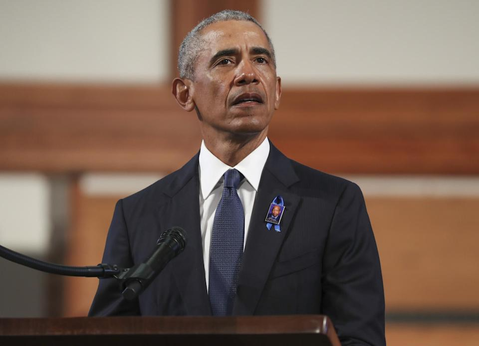 Obama delivered a 40-minute eulogy to John Lewis: Getty